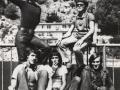 1970- Slobodan Braco Crljenko i Slobodan Badža (gore) i Miroslav Stopa, Vlade Gak i Mićo Narančić (dolje)
